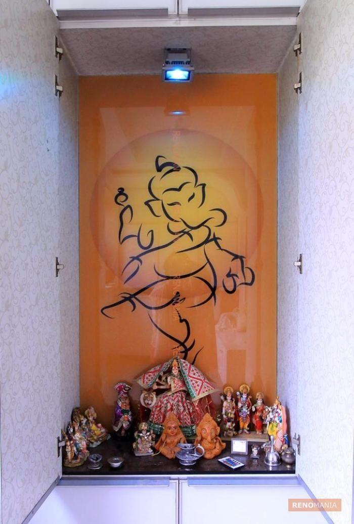 Traditional Pujaroom   Pooja rooms, Puja room, Door glass ...