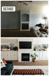 Photo of Large Family Room Makeover- How to not get Overwhelmed – Nesting With Grace  Fam…