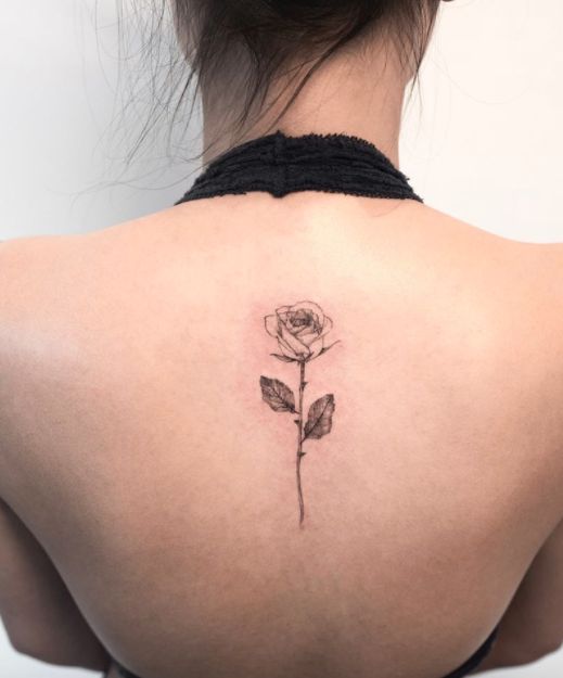 Cute Rose Tattoo Inkstylemag Rose Tattoos For Women Small Rose Tattoo Single Rose Tattoos