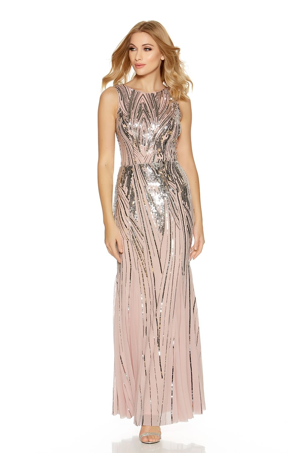 Tfnc maxi dress with sequin inserts movie