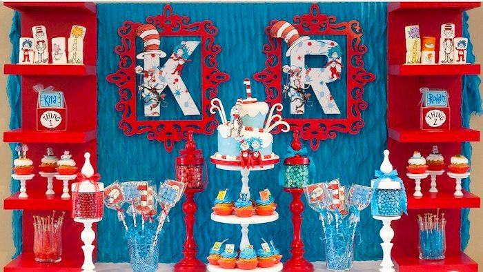 Thing 1 Thing 2 Themed Birthday Party Planning ideas Decor