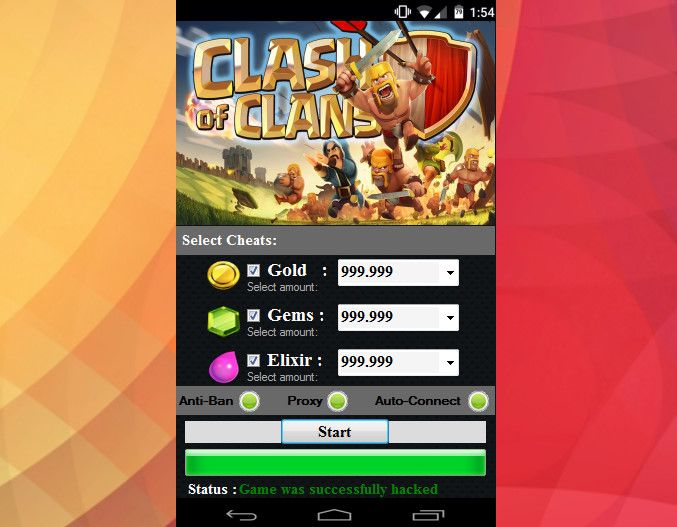buy clash of clans gems with paypal ios
