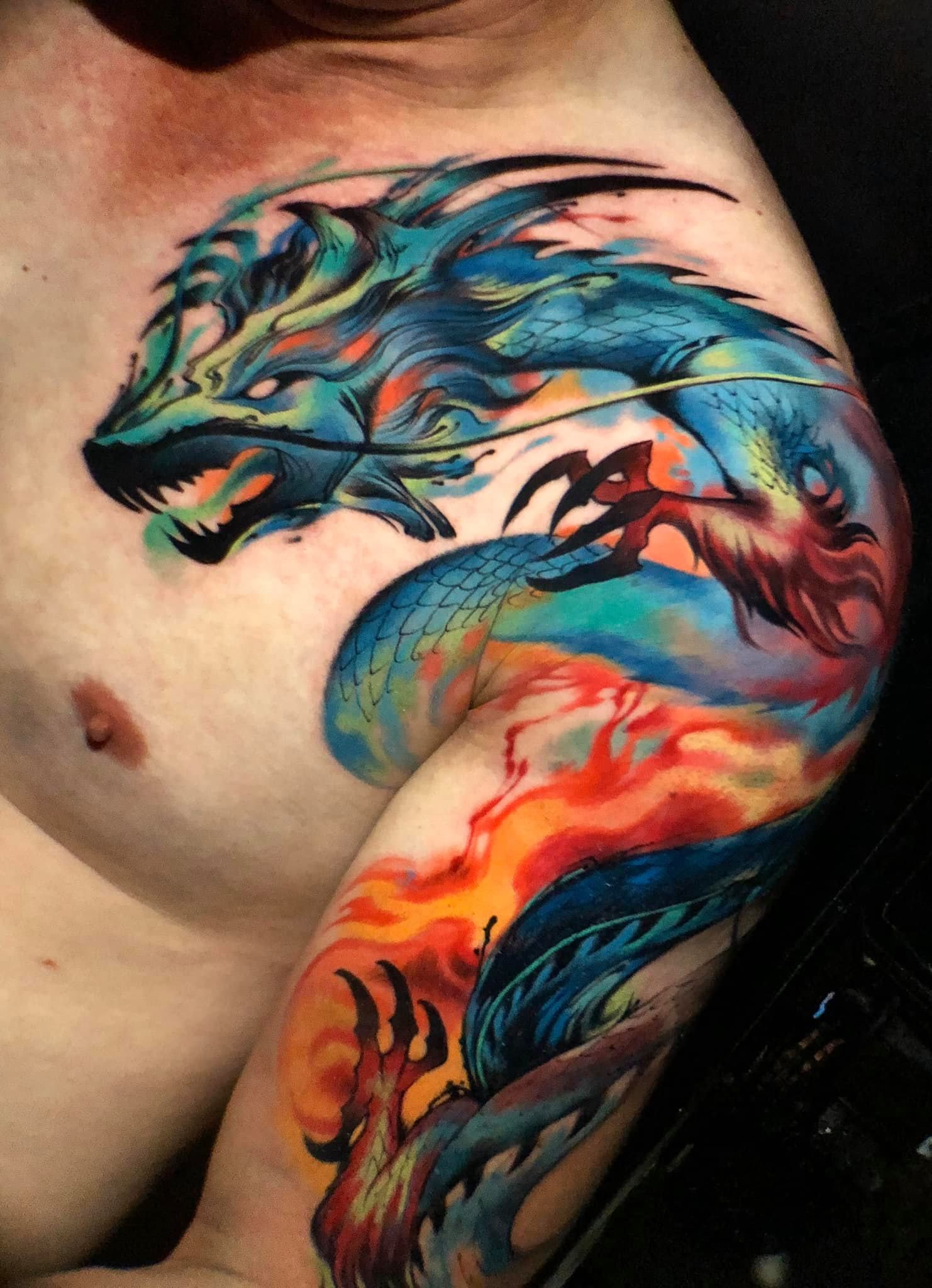 100 Best Chest Tattoos For Men 2019 The Wolf Tattoo Is One Of The Most Popular Tattoos For Men Who Want Ani In 2020 Tattoo Designs Wolf Pack Tattoo Cool Chest Tattoos