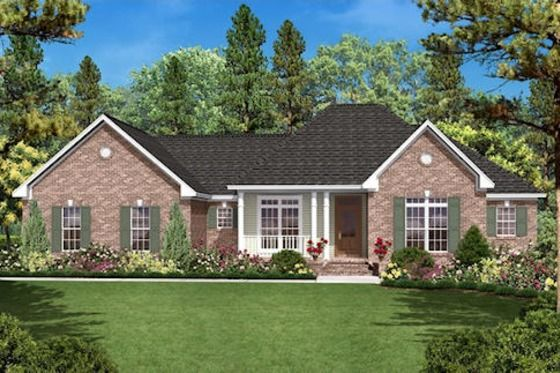 Traditional Style House Plan 3 Beds 2 Baths 1600 Sq Ft Plan 430 16 Ranch House Plans Country Style House Plans Traditional House Plans
