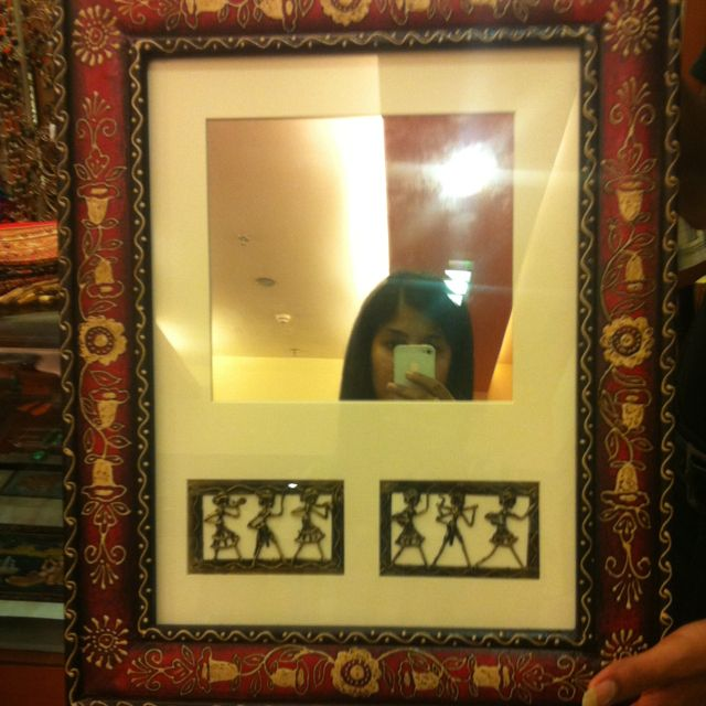 Wall hung Mirror with ' Dogra Art ' from india
