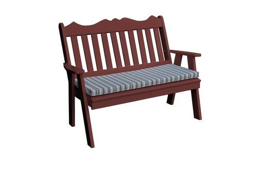 Oxford Cherry Wood Recycled Poly Plastic Royal Garden Bench 855