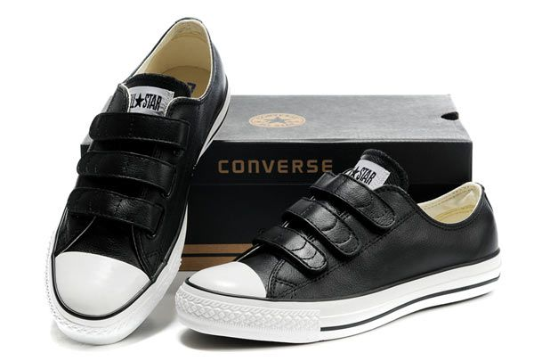 bbf8b5983460 Black Leather Converse