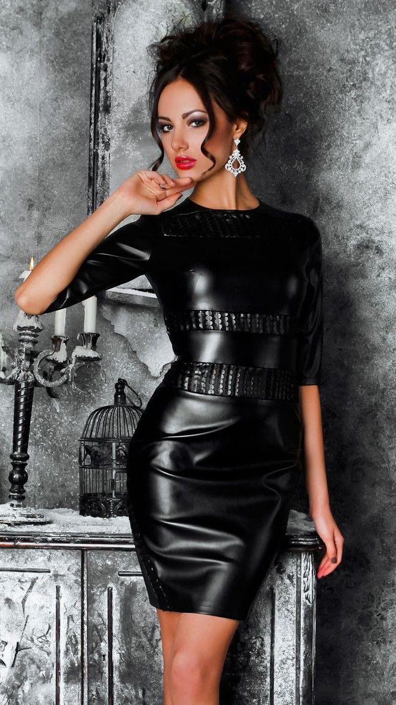 Julia Adasheva | Fashion, Leather dresses, Style