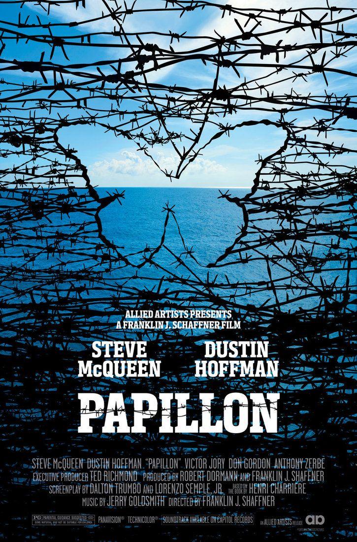 Papillon - movie poster - rob3rtarmstrong.deviantart.com