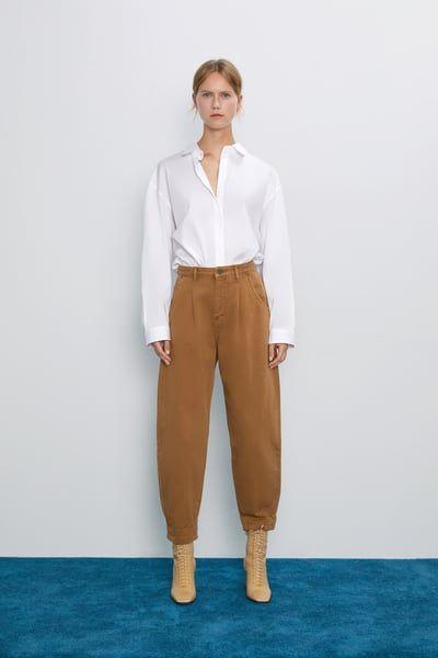 ZARA Female Slouchy z1975 jeans with darts Toffee 30