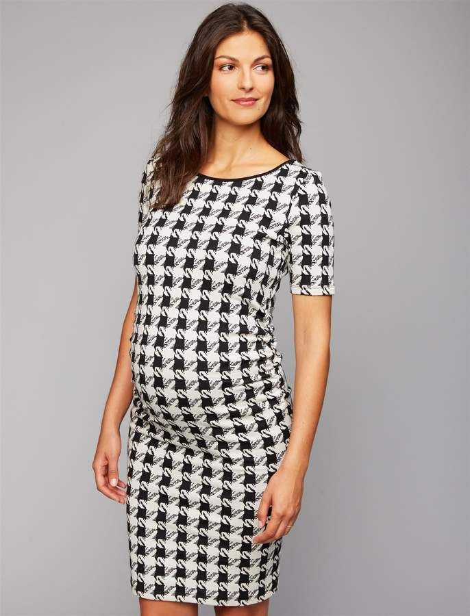 ff1b5f6e2534b Isabella Oliver Pea Collection Houndstooth Maternity Dress