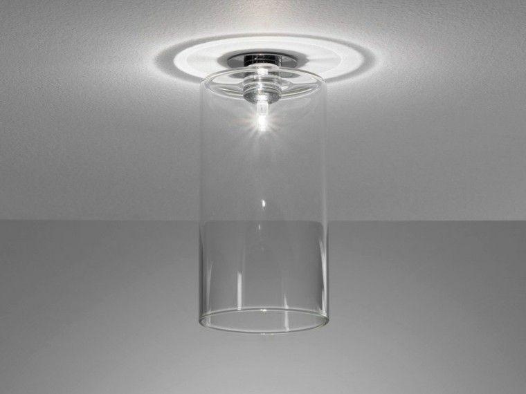 cristal transparente lampara techo moderna ideas - Lamparas Modernas De Techo