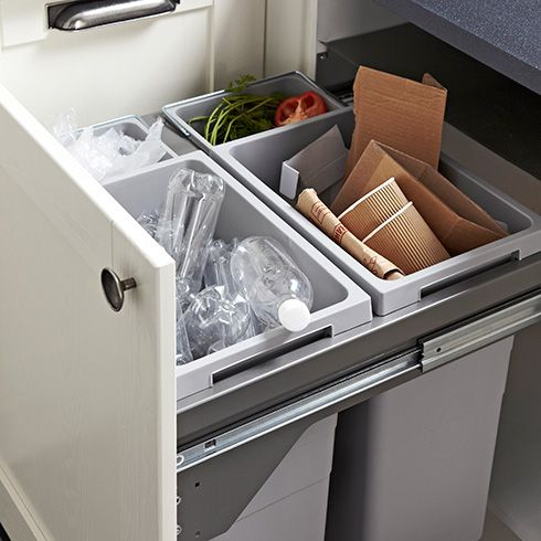 Designed So That The Bin Lid Is Withdrawn Away When Itu0027s Opened, A Waste  Segregator Is A Great Way Of Storing Multiple Waste Items