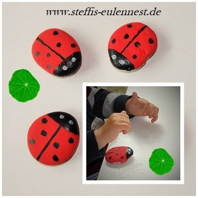 basteln mit kindern marienk fer ladybug fr hling. Black Bedroom Furniture Sets. Home Design Ideas