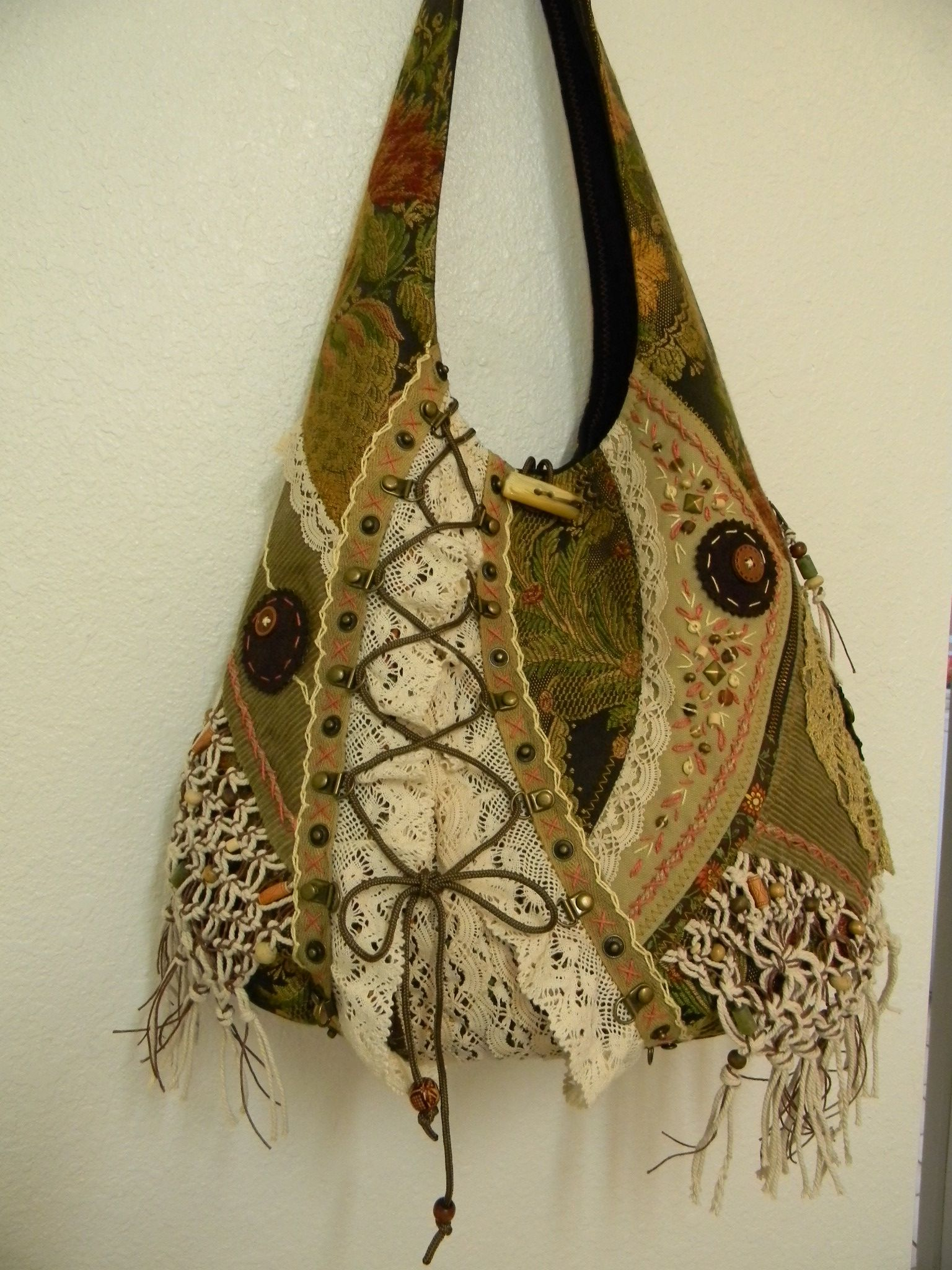 Hippie Hobo Bag Nicely Made Crafts Sewing Pinterest