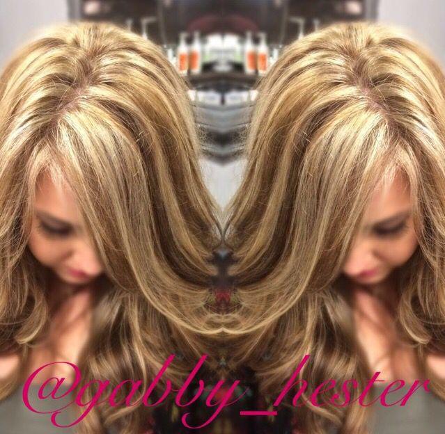 Blonde highlights with bold dark brown lowlights hair by gabby blonde highlights with bold dark brown lowlights hair by gabby hester at blown away salon pmusecretfo Choice Image