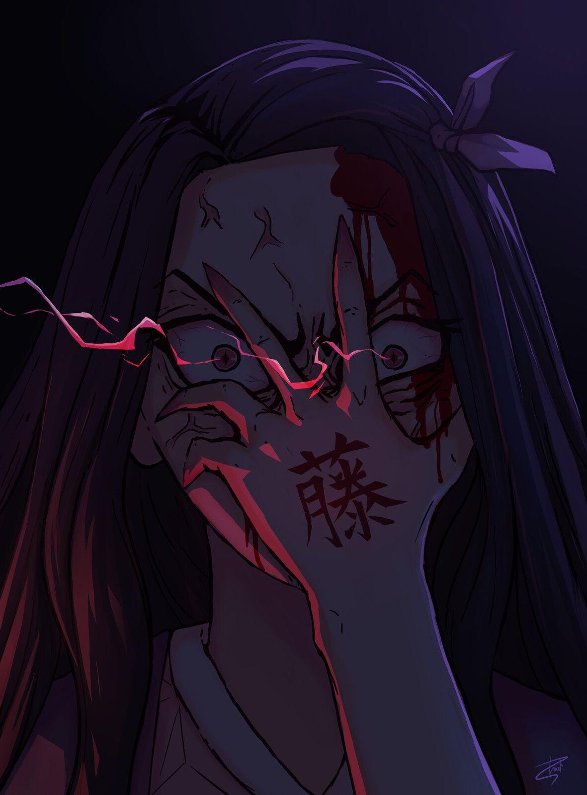 Nezuko fanart (Demon Slayer: Kimetsu no Yaiba), Martin F