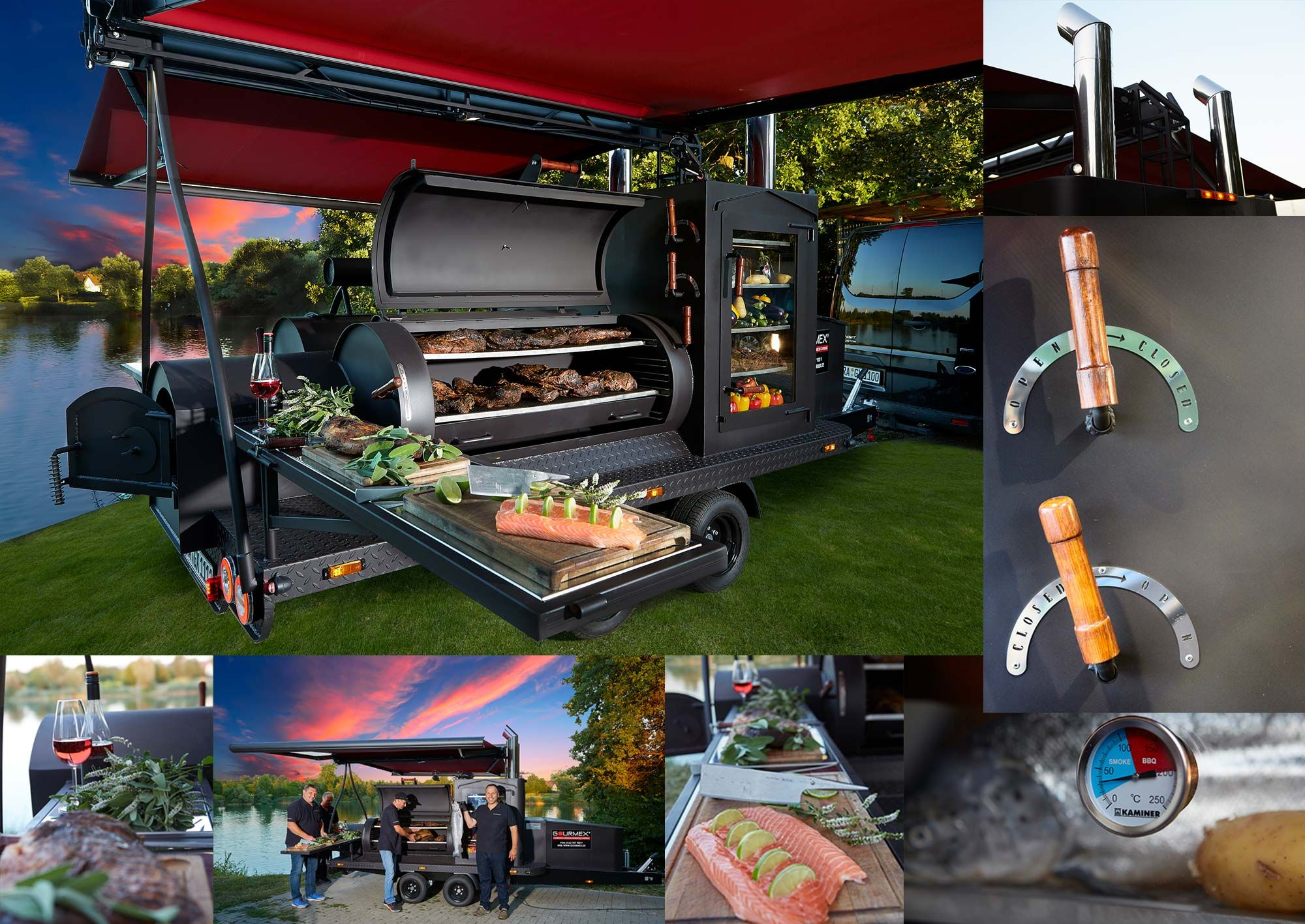Barbecue catering grill bbq vom feinsten gourmex grill