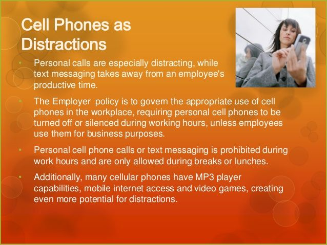 cell phones and social media+workplace distraction - Google Search - social media policy