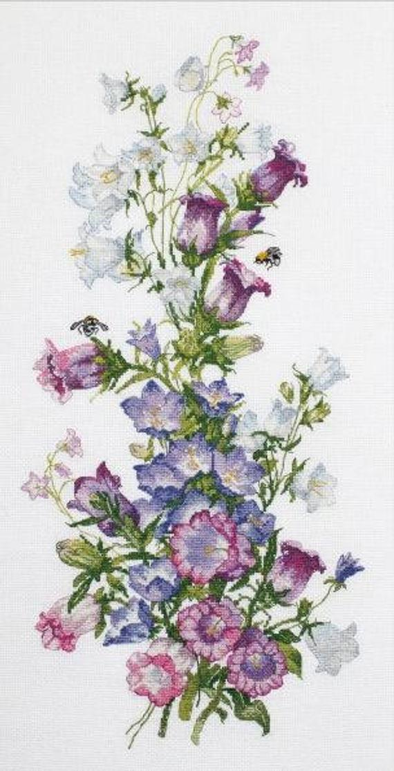 FLOWER COMPOSITION PIONES Counted Cross Stitch Kit OVEN