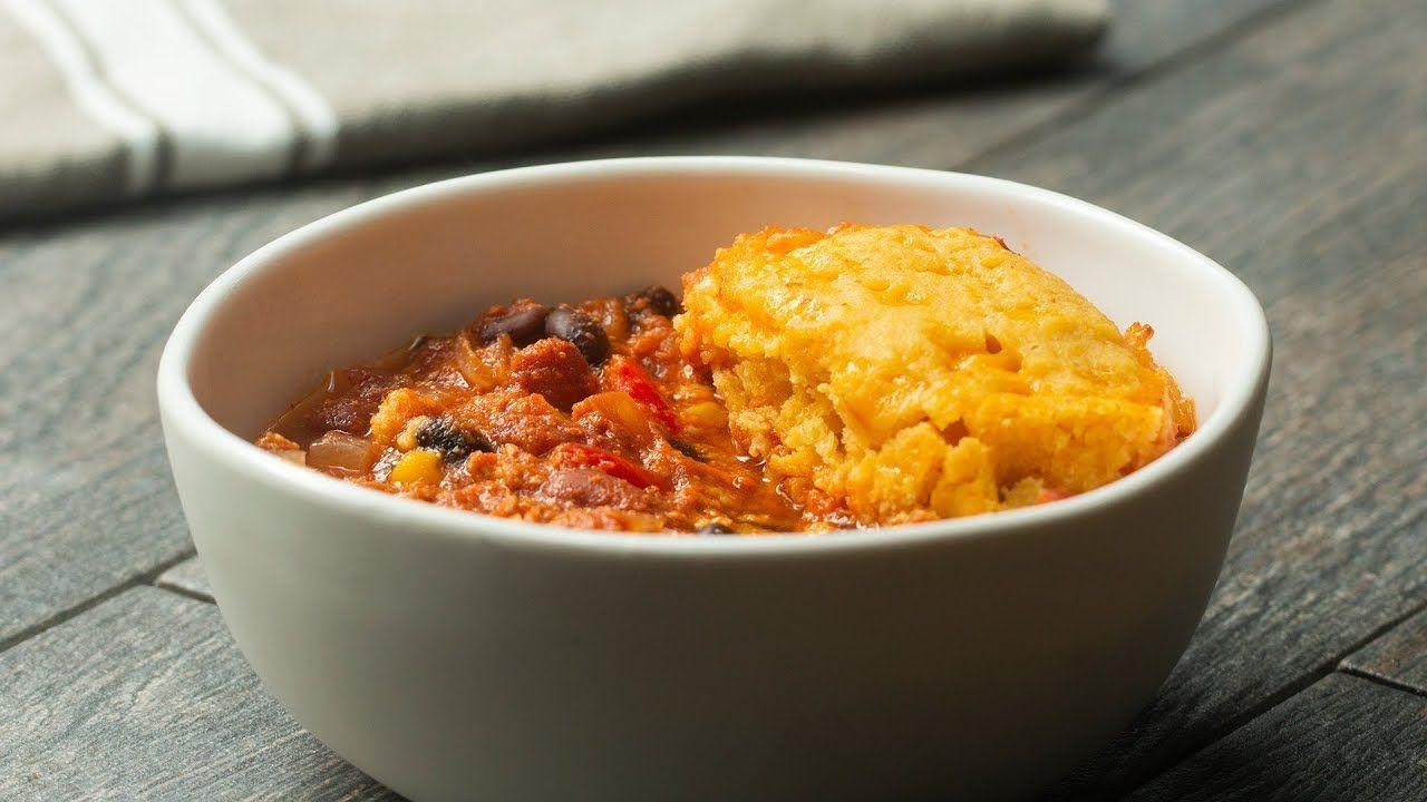 Slow Cooker Turkey Chili With Cornbread Dumplings | Recipe ...