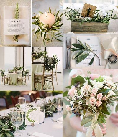Декор свадьбы в оливковом цвете