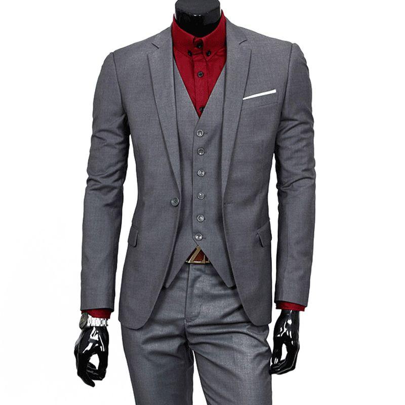 Terno Tuxedo Bussiness Blazer Suits Slim Fit Men Suit Latest Coat ...