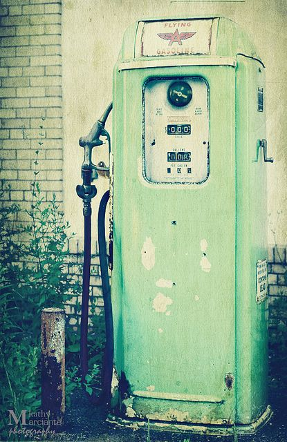 """""""Fill her up, please!""""  Gas was .25 yes twenty five cents a gallon when I started driving-1972, age 16."""