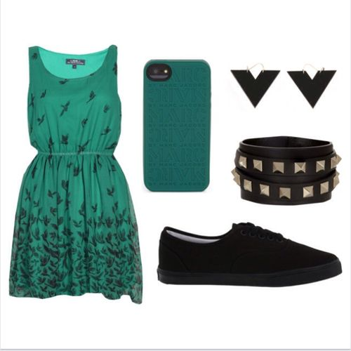 Green and Black - Polyvore