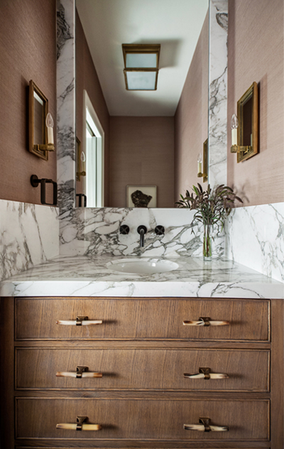 Mix And Chic Home Tour Inside Suzanne Kasler S Beautiful Atlanta Bathroom Vanity Wall Mounted Faucet