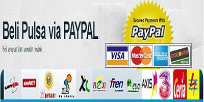 Beli Pulsa Online Via Paypal Pulsa Online All Operator Pembayaran