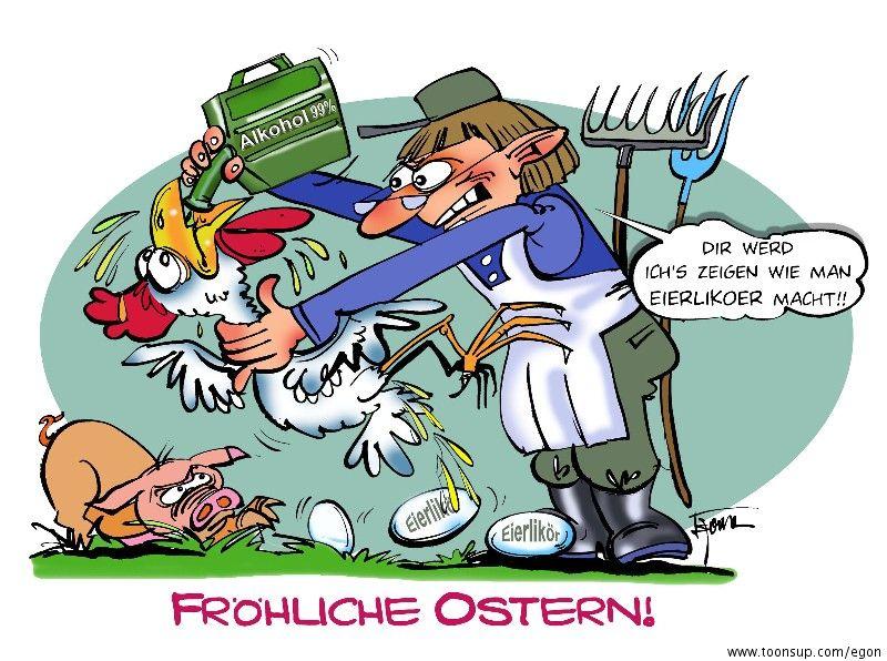 Easter Cartoon Fröhliche Ostern