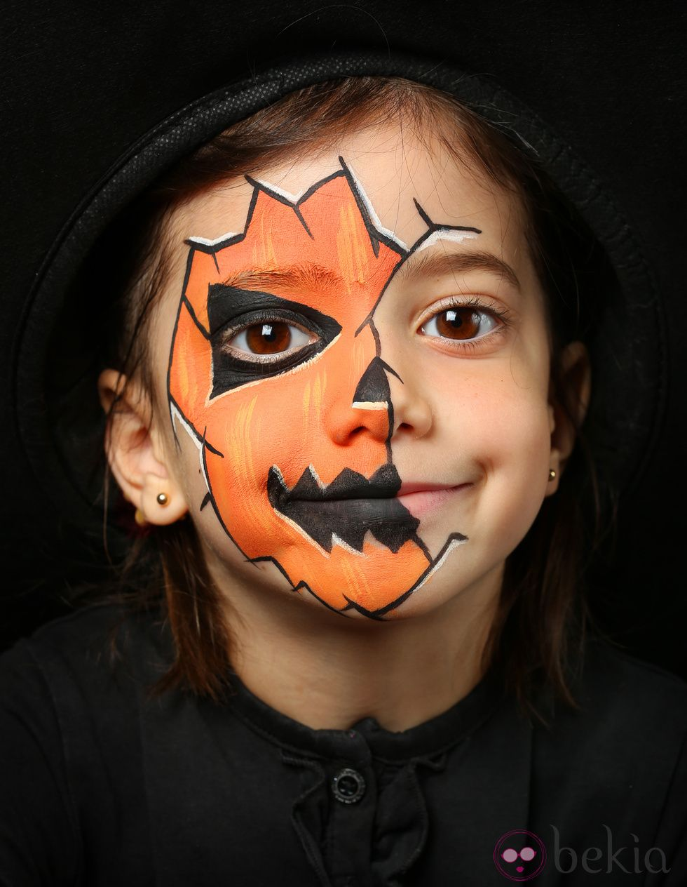 maquillage de citrouille pour enfant halloween. Black Bedroom Furniture Sets. Home Design Ideas