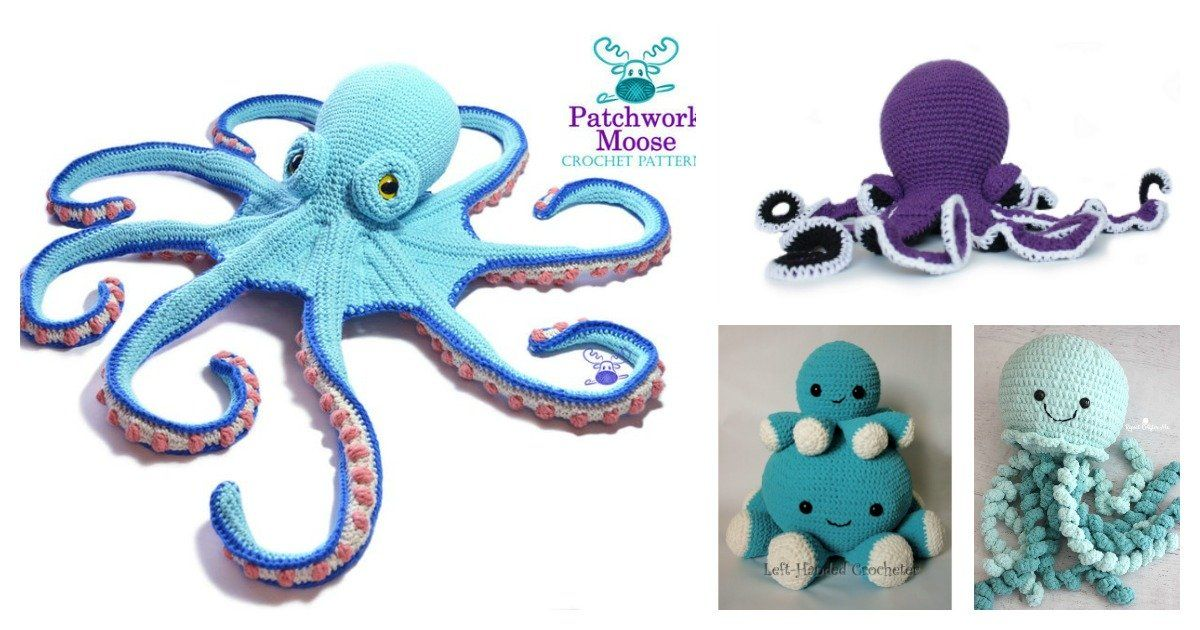 8 Giant Octopus Crochet Pattern Free Paid In 2020 Crochet Patterns Octopus Crochet Pattern Octopus Crochet Pattern Free