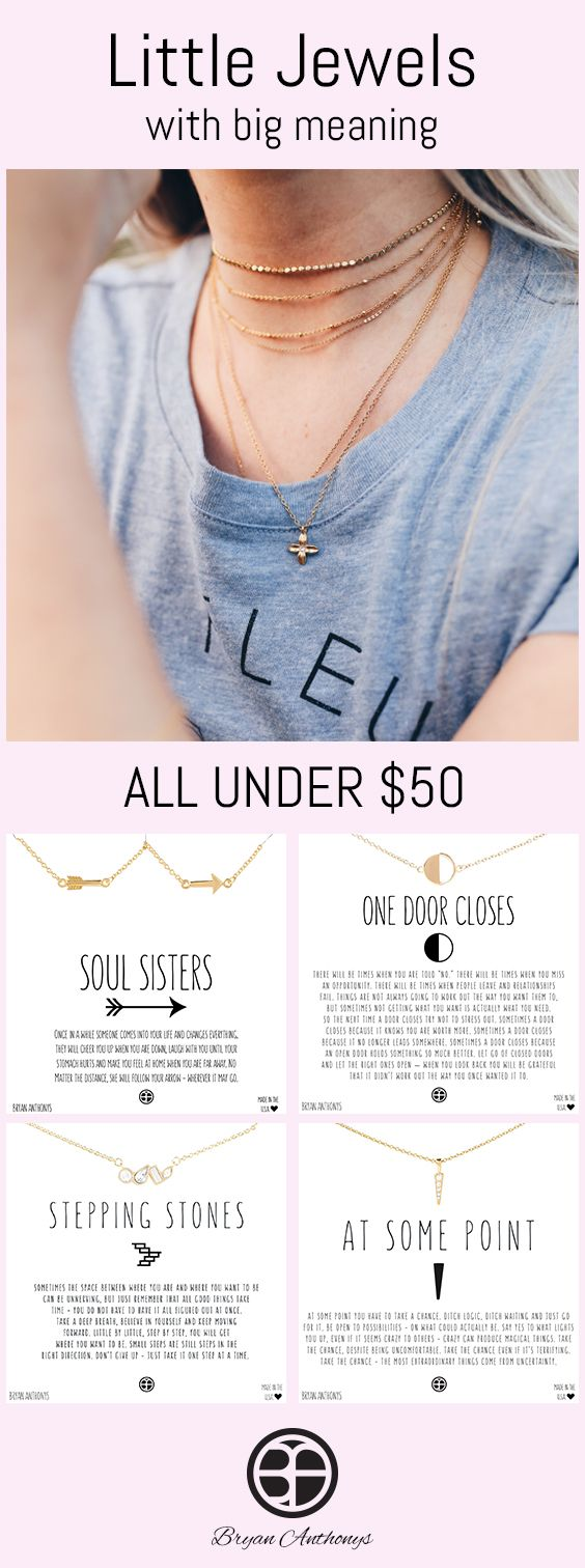 Photo of Delicate jewelry with meaningful messages. All of our pieces are under $ 50 …