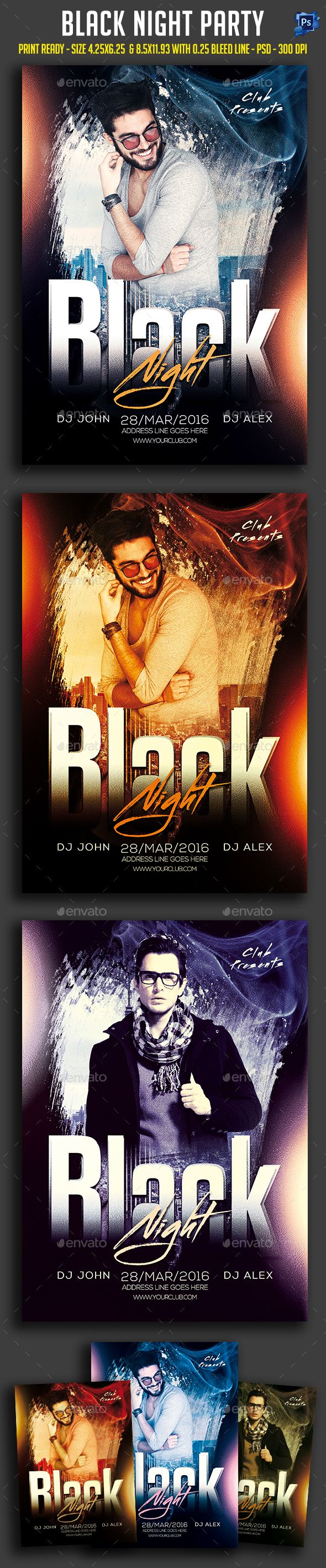 black night party flyer template psd download here http