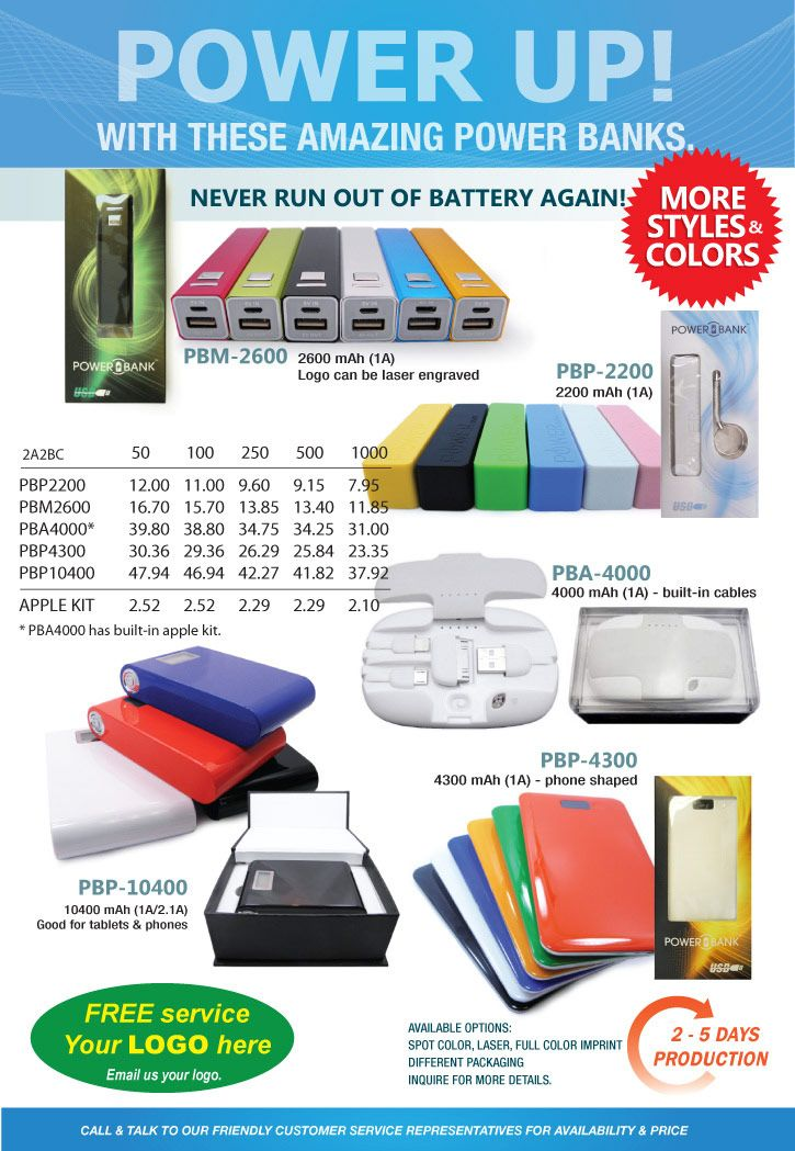 Power Bank Flier with YOUR LOGO from KTS, Inc Promotional Product