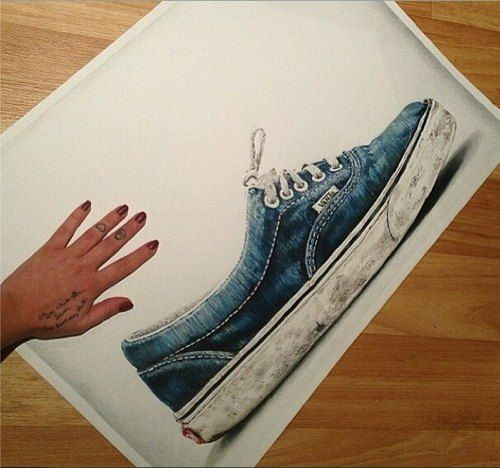 Pencil drawing of our classic Vans era. Blown away. by fan   elizabethstonembitch via Tumblr c816cd878e