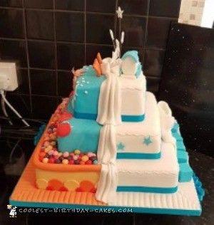 Terrific Awesome Homemade Half And Half Birthday Christening Cake Tortas Personalised Birthday Cards Veneteletsinfo