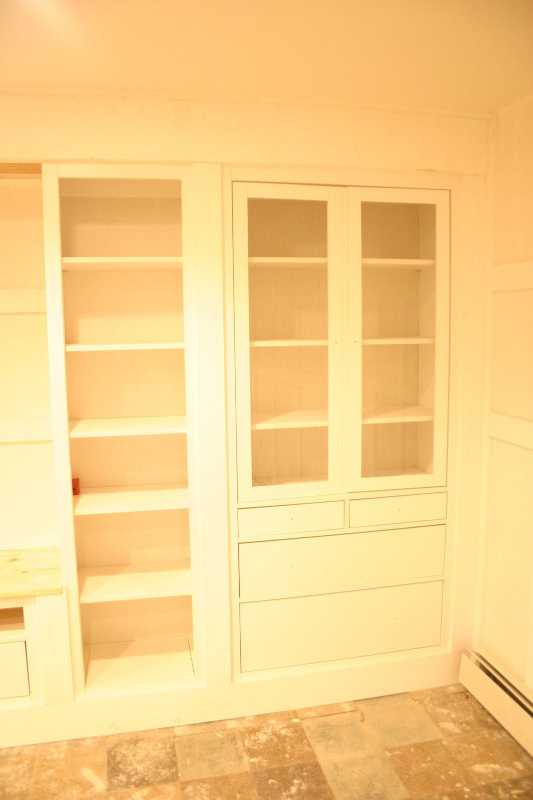 the built-ins {part one | organization | Pinterest | Bookcase ...