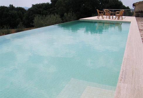 Overflow swimming pool tiles coated with sand colors 5x5