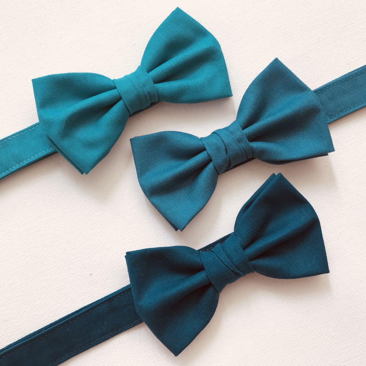 Vintage Style Cotton Bow Tie  Kids Children Toddler Boys Baby Bowtie  Dark Teal Blue Bow Tie  Steel Blue bow tie  Royal Blue Bow tie