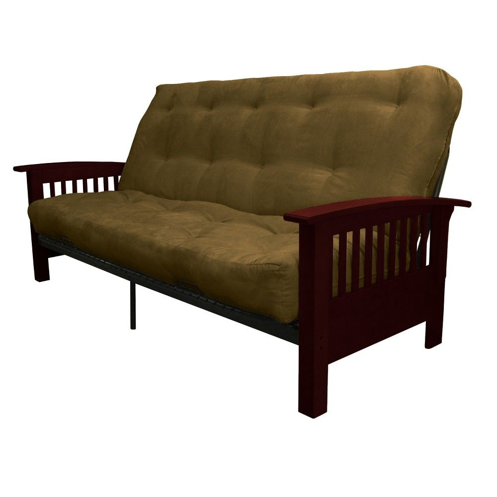 stickley 8 inch cotton foam futon sofa sleeper mahogany wood
