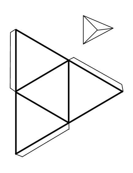 Triángulos De Papel Buscar Con Google Cuerpos Geometricos Para Armar Figuras Geometricas Para Armar Como Hacer Figuras Geometricas