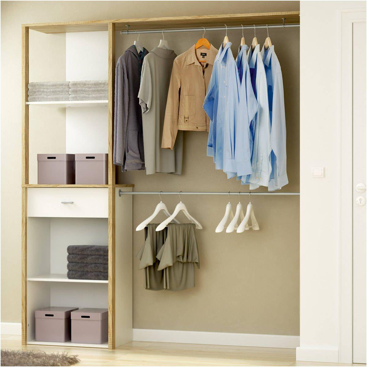 meuble de rangement dressing armoire penderie kit dressing extensible | Placard blanc, Kit ...