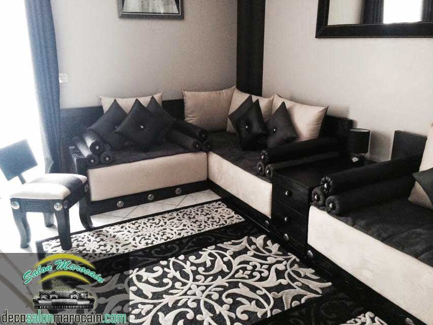 Salon Marocain Noir Seduisant With Images Moroccan Living Room