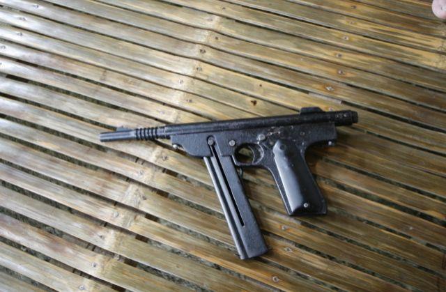 .22 caliber machine gun.