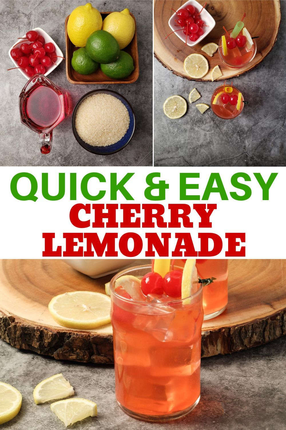 Cherry Lemonade Or Limeade In 2020 Cherry Lemonade Lemon Recipes Limeade
