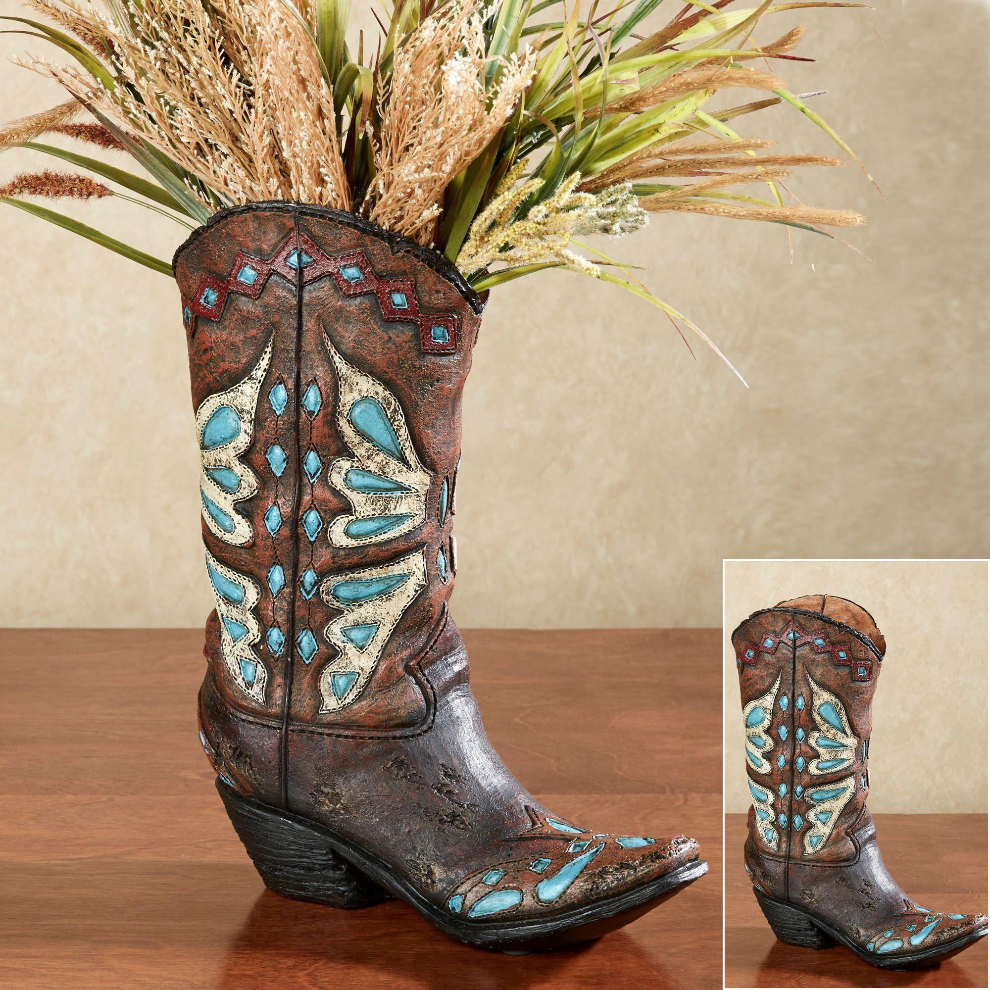 Cowboy boot shaped vase vase turquoise and cowboys cowboy boot shaped vase floridaeventfo Images