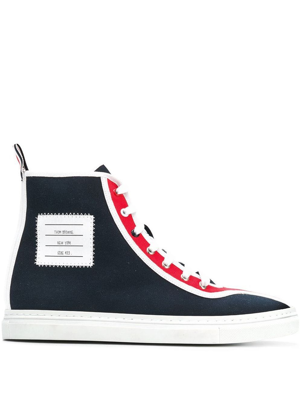 Thom Browne 4 Bar Paper Label Hi Top Trainer Farfetch Shoes Fashion Photography Casual Sneakers Nice Shoes